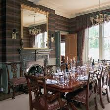 Wallpaper Designs For Dining Room by Dining Room Wallpaper Ideas Tartan Wallpaper Dining Room