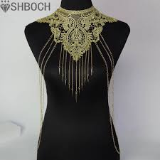 gold chain collar necklace images 48 body necklace chain best 25 body chain jewelry ideas on jpg