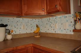interior our diy brick backsplash using vinyl floor tiles cut