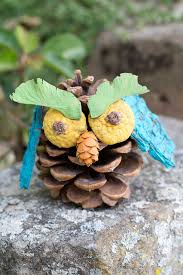 pinecone owls a fall nature craft for kids