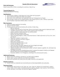 summary and qualifications resume a cna job description let s read between the lines sample cna job description