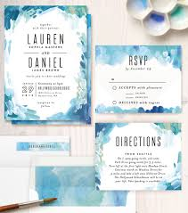 watercolor wedding invitations gallery abstract customizable wedding invitations in blue