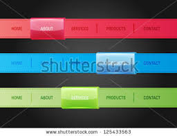menu bar templates vector web navigation menu bar templates stock vector 125433563