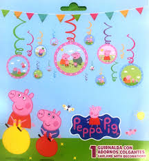 peppa pig decorations peppa pig swirl decoration 12pc peppa pig party supplies