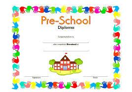 preschool diploma preschool diploma certificate templates the best template collection