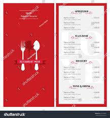valentine menu design template cafe restaurant stock vector