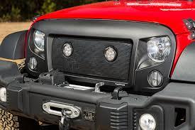 new jeep wrangler 2016 rugged ridge announces new led mesh grille insert for 2007 2016