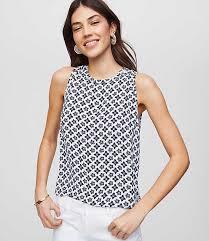 shell blouse sleeveless shirts blouses loft