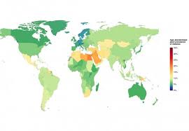 netherlands height map and latvian tallest in world according to 100 year