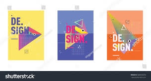 minimalist vector covers design set cool stock vector 686928298
