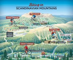 biking in scandinavian mountains
