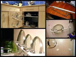 kitchen storage ideas for pots and pans pot lid storage ideas pot lid rack image for and pan organizer