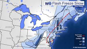 Snowfall Totals Map Potential Flash Freeze As Rain Changes To Snow