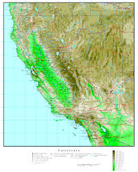 california map california elevation map