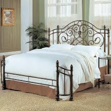 king metal bed frame headboard footboard gallery bedroom