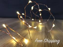 Mason Jar String Lights Copper String Lights Mason Jar Lights Firefly Lights Wedding