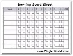 Ten Pin Bowling Sheet Template Ten Pin Bowling Sheet Template 41 Images Ten Pin Bowling