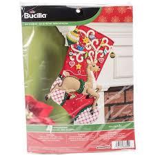 bucilla felt applique kit 18 ornamental deer