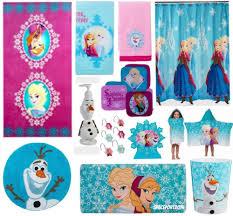 Disney Bath Rug 28pc Complete Frozen Elsa Bathroom Set Shower Curtain Towels