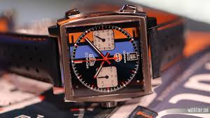 gulf racing logo tag heuer monaco gulf special edition makes u s debut at