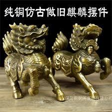 large antique brass ornaments copper kylin kylin handicraft of