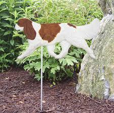 cavalier king charles outdoor garden sign painted figure