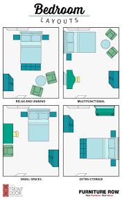 furniture layouts bedroom layout guide front door