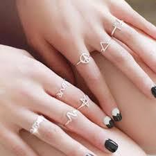 midi ring set 7pcs set midi rings set for women 925 sterling silver adjustable