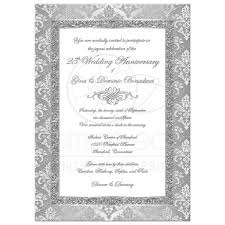 Invitation Card For Silver Jubilee Wedding Anniversary 25 Wedding Anniversary Invitation Images Wedding And Party