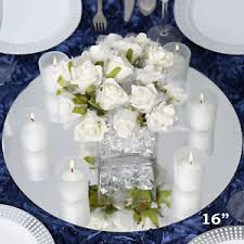 12 pcs x 16 glass mirror wedding table decoration
