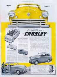crosley car directory index crosley ads 1949
