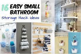 16 easy small bathroom storage hack ideas wartaku net