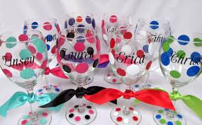 wine glass gifts stylish monogrammed wine glasses design for gift idea