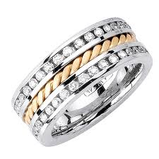 wedding ring depot 1 75ct tcw 14k two tone gold rope braid band 9 5mm 3002556 shop