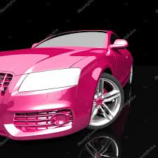 car pink color on a dark background u2014 stock photo best3d 51284345