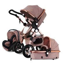 siege auto pliant bébé poussette 3 en 1 avec siège d auto pour nouveau né haute vue