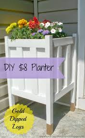 home heart and hands diy front porch planter with gold dipped legs