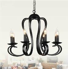 Fresh Black Wrought Iron Chandelier With Shades 20039