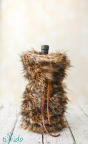 restoration hardware gift faux fur wine bags tutorial and 99 handmade gift ideas hop