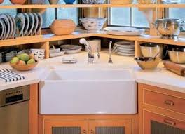 Best Kitchens Corner Sinks Images On Pinterest Corner Kitchen - Corner sink kitchen cabinets