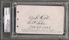 Empty Chair Poem Lot Detail Stunning Ruth Signed 1927 Album Page Graded Psa 10