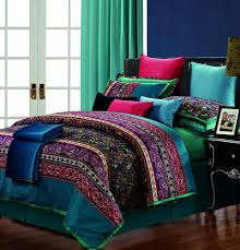 egyptian cotton stripe purple green comforter bedding set king