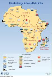 Africa Climate Map by Climate Change Vulnerability In Africa Grid Arendal