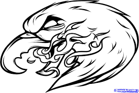 126 eagle drawing tiny clipart