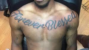kilarenee forever blessed chest blackletters script