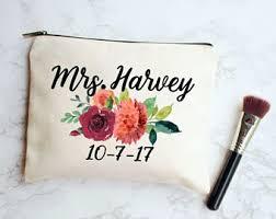 Bridal Makeup Bags Bride Gift Bride Makeup Bag Floral Bride Bag Floral Bag