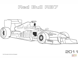 red bull rb7 formula 1 car coloring free printable coloring