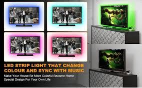 music led strip lights music led strip lights 6 6ft 2m 5v usb powered light strip 5050 rgb