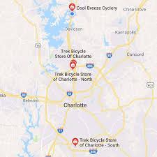 Zip Code Map Charlotte Nc Trek Bicycle Stores The Carolina U0027s 1 Trek Bike Shops