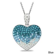 crystal heart necklace images Crystal ice crystal heart necklace with swarovski elements free jpg